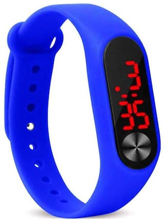 Miss Perfect unisex led rubber digital watch