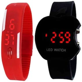 miss perfect Apple LED Digital kids watch with LED Digital band watch CF-15 Kids Watch CF-15 Digital Watch