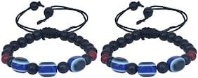 MissMister Trendz Dzine Black Ceramic Bead Evil Eye Bangle Bracelet Nazariya for Boys and Girls