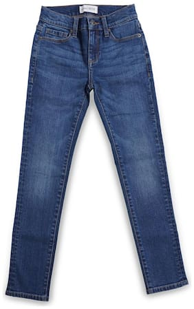 Mode by Red Tape Cotton Blend Solid Blue Color Jeans For Girl