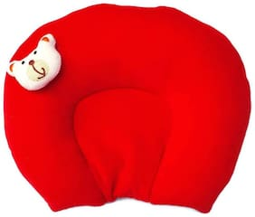 MOM & SON Red color u shaped mustered seed pillow for new born baby which provide comfort during sleep