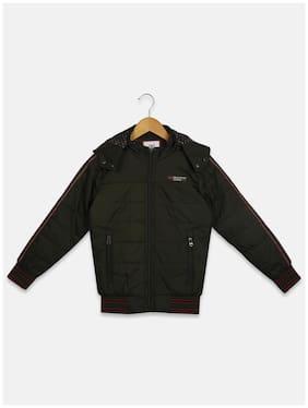 Monte Carlo Boy Cotton blend Solid Winter jacket - Green
