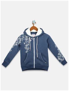 Monte Carlo Girl Cotton blend Printed Sweatshirt - Blue