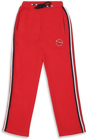 Monte Carlo Boy Cotton blend Track pants - Red