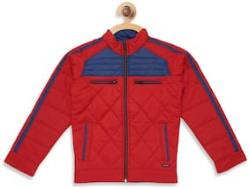 Monte Carlo Boy Polyester Solid Winter jacket - Red