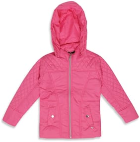 Monte Carlo Girl Polyester Solid Winter jacket - Pink