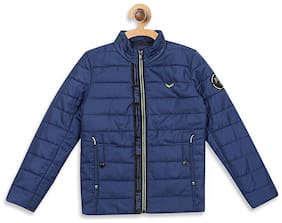 Monte Carlo Boy Polyester Solid Winter jacket - Blue