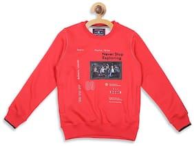 Monte Carlo Boy Cotton blend Printed Sweatshirt - Red