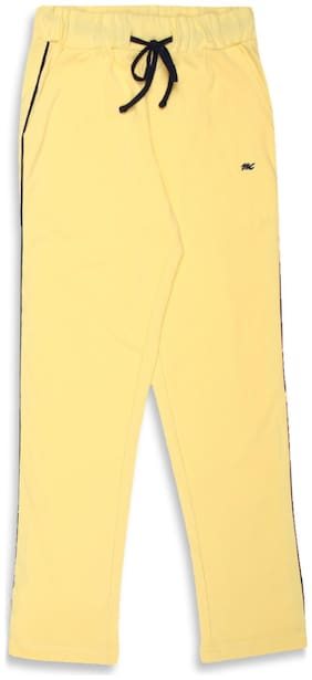 Monte Carlo Girl Cotton Track pants - Yellow