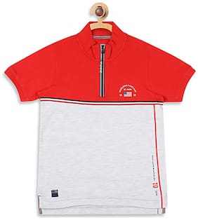 Monte Carlo Boy Cotton blend Printed T-shirt - Red