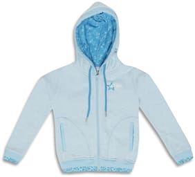 Monte Carlo Girl Cotton blend Solid Winter jacket - Blue