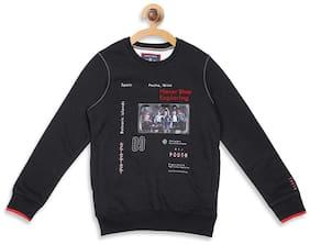 Monte Carlo Boy Cotton blend Printed Sweatshirt - Black