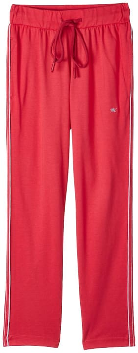 Monte Carlo Girl Cotton blend Track pants - Red