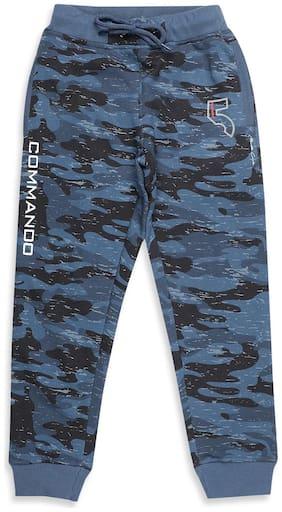 Monte Carlo Boy Cotton blend Track pants - Blue