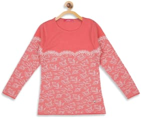 Monte Carlo Girl Polyester Printed Top - Pink