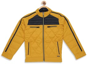 Monte Carlo Boy Polyester Solid Winter jacket - Yellow