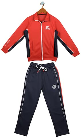 Monte Carlo Boy Cotton blend Tracksuit - Red