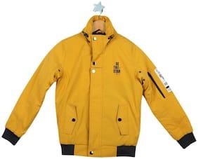 Monte Carlo Boy Cotton blend Solid Winter jacket - Yellow