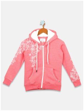 Monte Carlo Girl Cotton blend Printed Sweatshirt - Pink