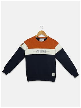 Monte Carlo Boy Cotton blend Printed Sweatshirt - Blue