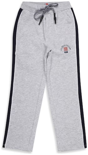Monte Carlo Boy Cotton blend Track pants - Grey