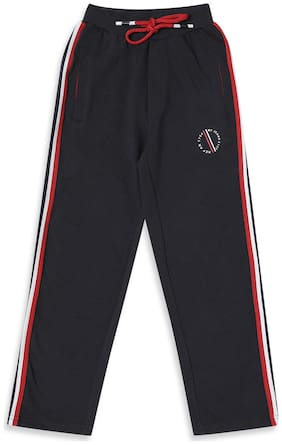 Monte Carlo Boy Cotton blend Track pants - Blue