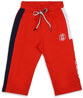 Monte Carlo Boy Solid Shorts & 3/4ths - Red