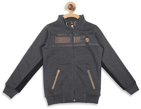 Monte Carlo Boy Cotton blend Printed Sweatshirt - Grey
