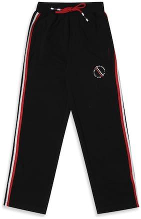 Monte Carlo Boy Cotton blend Track pants - Black