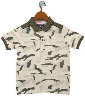 Monte Carlo Boy Cotton blend Printed T-shirt - Brown