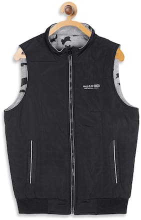 Monte Carlo Boy Polyester Solid Winter jacket - Blue