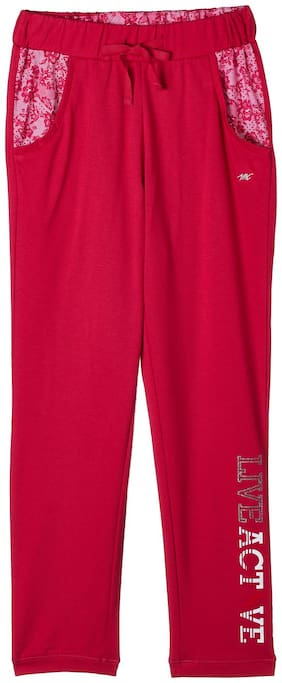 Monte Carlo Girl Cotton blend Track pants - Pink