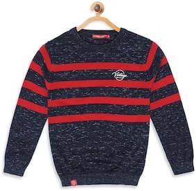 Monte Carlo Boy Cotton Striped Sweater - Blue