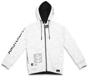 Monte Carlo Boy Cotton blend Printed Winter jacket - White