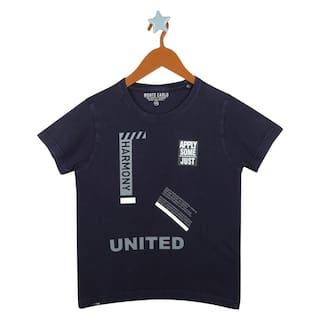 Monte Carlo Boy Cotton blend Printed T-shirt - Blue