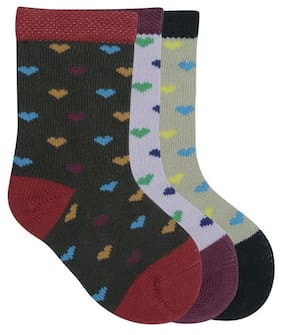 Montebello Baby Boys & Baby Girls Calf Length Multicolor Cotton Socks Pack Of 3