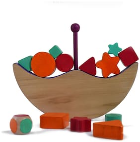 Moon Balancing Wooden Montessori Toy 2-4 year old kids
