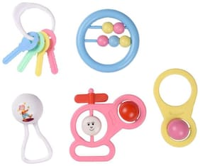 Morisons Baby Dreams Premium Rattle Gift Set of 5