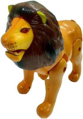 Motor Driven Super Lion Walking and Roaring Toy