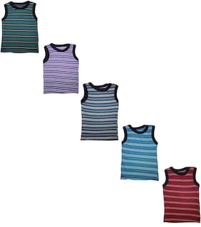 MRB Vest For Boys - Multi , Set of 5