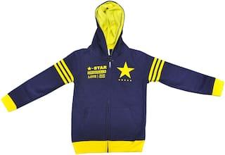 MRB Baby Boy Cotton Solid Sweatshirt - Blue & Yellow