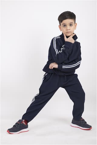 MSZO Boy Wool blended Tracksuit - Blue