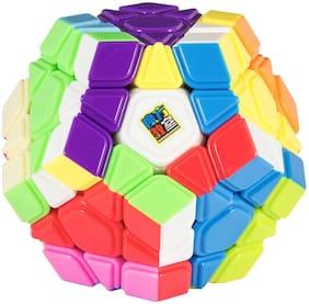 Mubco | High Speed Sticker Less Rubik Cube Pentagon Magic Rubik Puzzle Cube Game Toy Multi-Color.