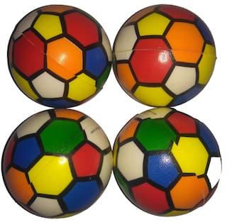 Multi-Color Soft Balls for Kids Set of 4 Balls - 4.5cm Size