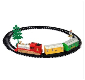 New Pinch Multi Color  Musical Sound Light Engine Train Set Toy