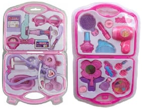 Multi color little Doctor play set with Fashion Beauty Set for kids