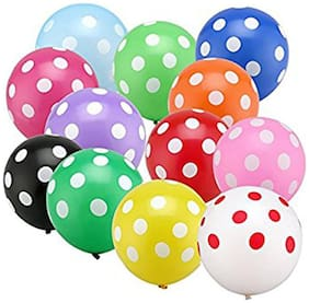 Multi Color Polka dot Party Balloons for birthday party anniversary festival decoration pack of 30pcs