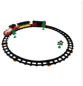 New Pinch Multicolor Track Train World With Light Big