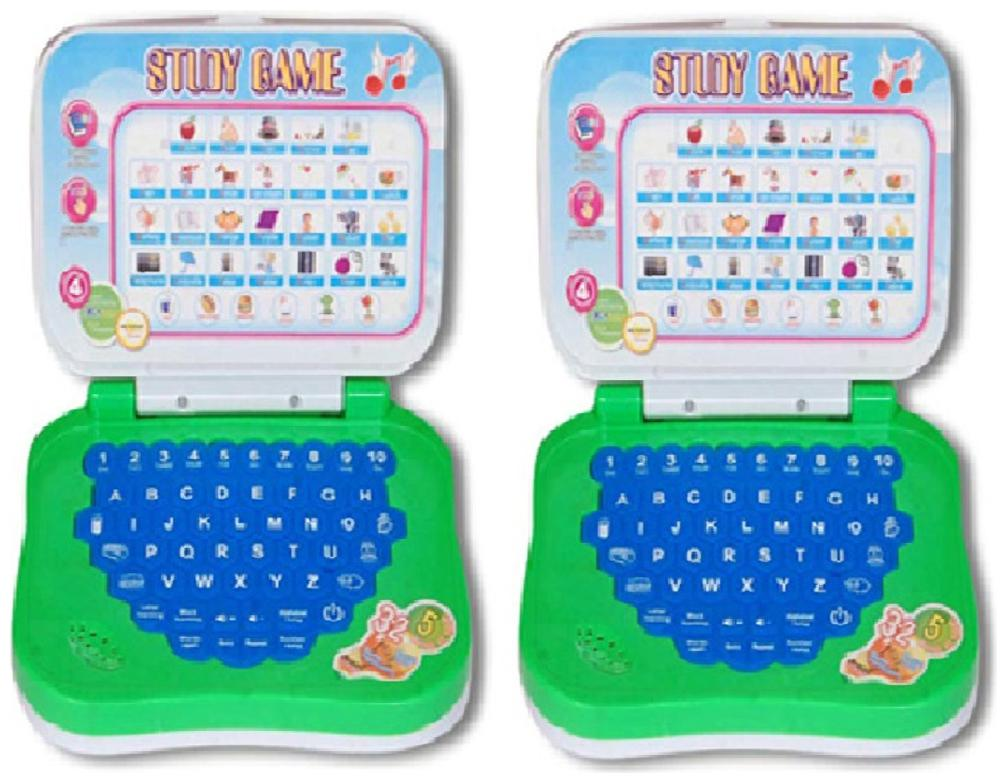 Multicolour Mini Learning Laptop   Pack Of 2