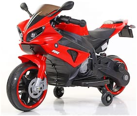 MUNMUN TOY Baby Bike for Kids Ride on Battery Operated Bike Red Colour Bike for Boys